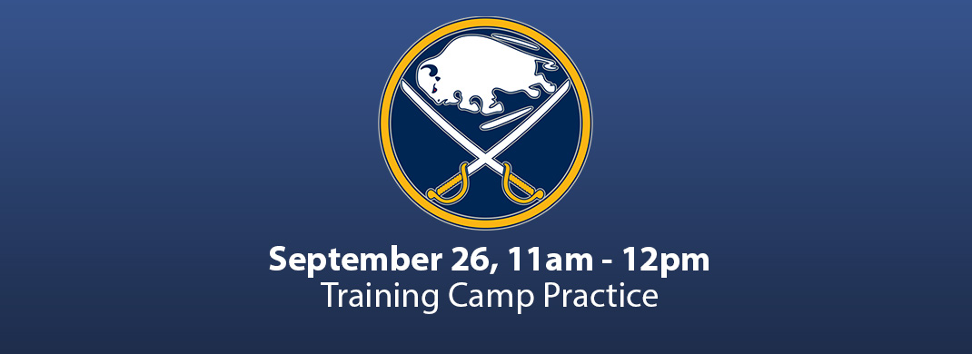 sabres training camp practice