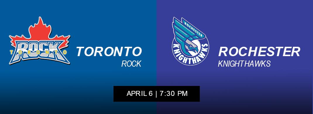 Rochester Knighthawks vs Toronto Rock