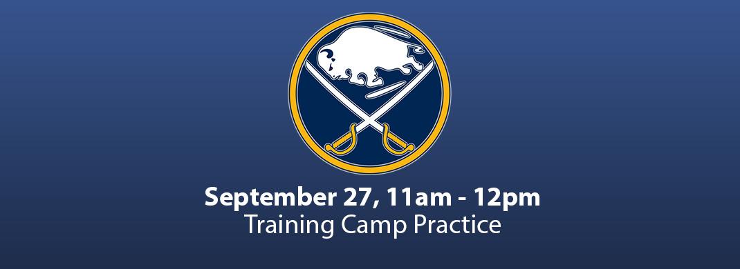 sabres training camp practice
