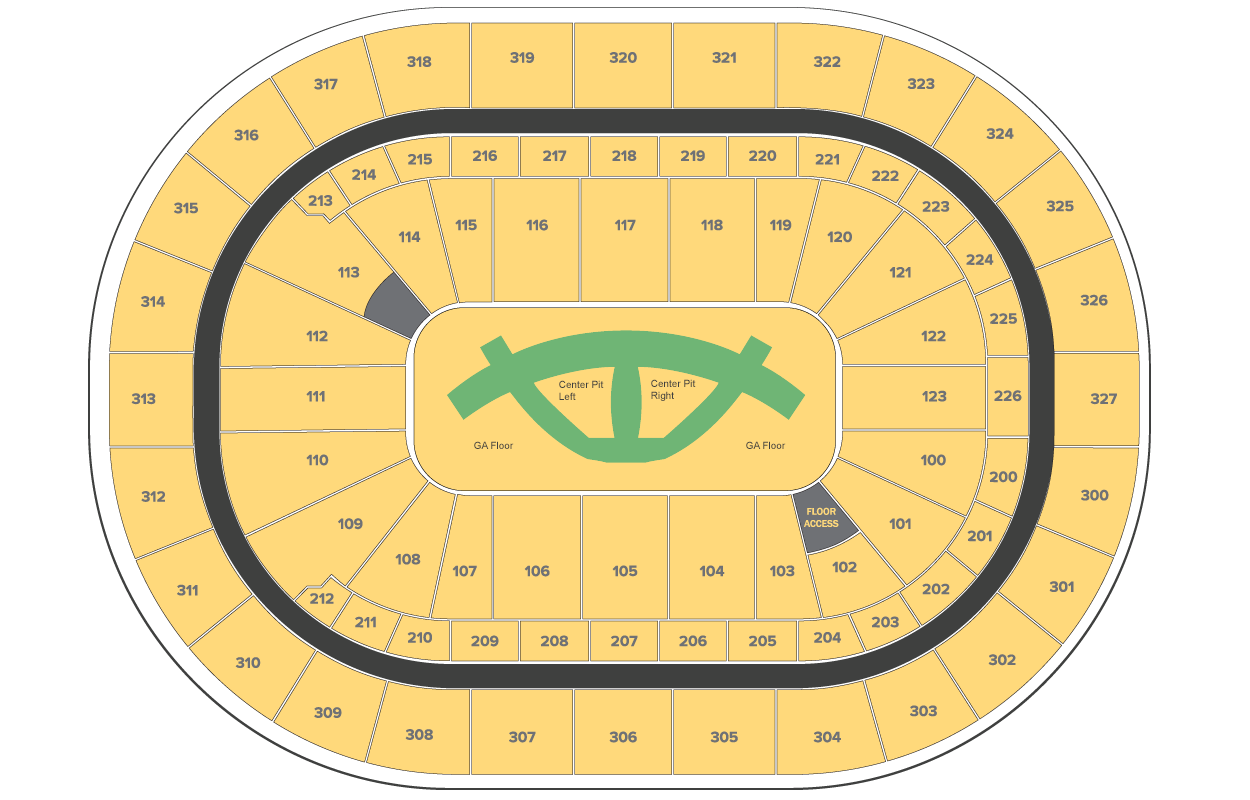 Carrie Underwood: The Cry Pretty Tour floor plan