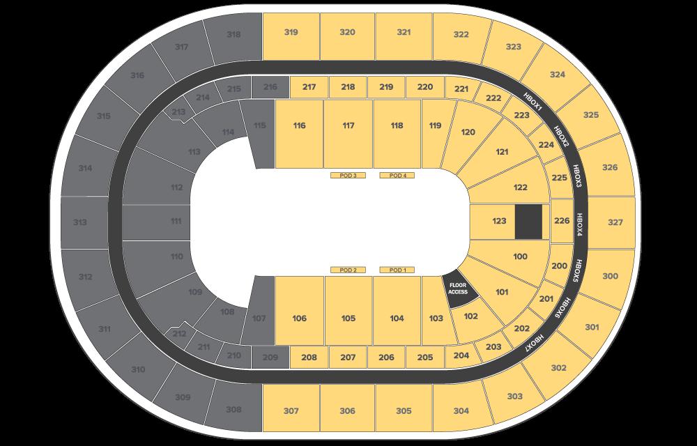 Jurassic World Live Tour floor plan