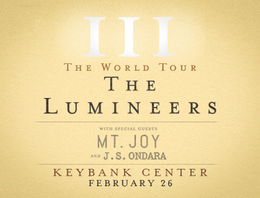 The Lumineers with Mt. Joy and J.S. Ondara large image