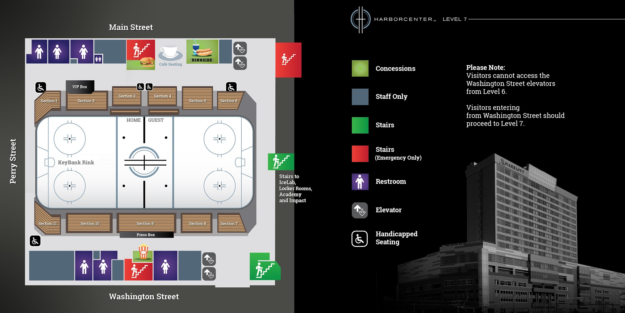 Harborcenter Rink Map 2