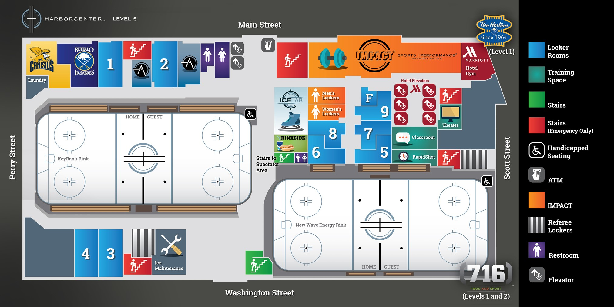 Harborcenter Rink Map 1